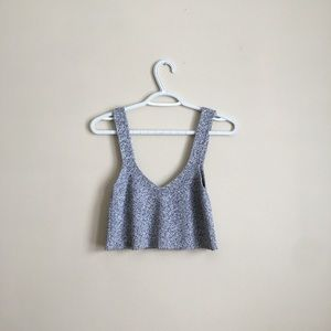 Aritzia Grey Mony Cropped Sweater Tank, Rare Find
